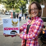 Congratulations to Rachel Kramer, winner of our SCHMOVIE giveaway from NY Toy Fair 2013! Check out that schweet autograph!
