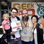 Schmovie creators (and intern) pose with GeekDad extraordinaire, Anton Olsen, at World Maker Faire NY.