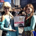 Schmovie is looking cool with with the princesses from Frozen.
