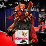 Skull Kid challenges Link to a game of Schmovie. Or kill him. #nycc14 #nycc