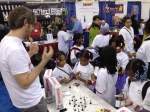 Girl Scouts flocked to the SCHMOVIE booth at Chicago Toy & Game Fair!