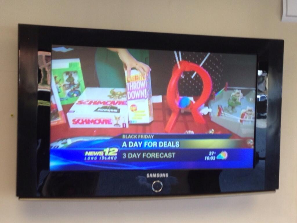 Schmovie featured on News12 Long Island Black Friday segment
