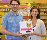 SCHMOVIE's husband-and-wife inventors, Bryan Wilson and Sara Farber.