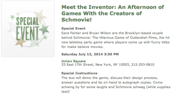 Schmovie BN Union Square
